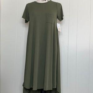 LuLaRoe Carly Dress Green Modal